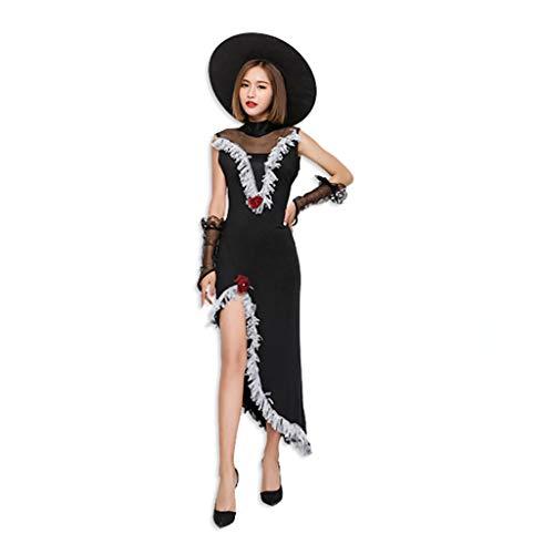 Uus Halloween-Kostüm, Erwachsene weibliche Cosplay Kostüm Hexe Vampir -
