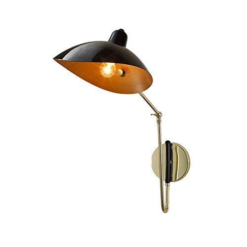 MMM- Nordische Postmoderne Art Eisen-Lampe Aluminium-Lampenabdeckung Gold-plated Multi-Winkel-Einstellung E14 Wandleuchte