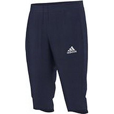 adidas Core 15 - Pantalones pirata de deporte para hombre, otoño-invierno 10, hombre, color - azul oscuro / blanco, tamaño L - 54