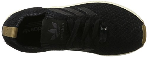 adidas Unisex-Erwachsene ZX Flux Primeknit Trainer Low Schwarz (C Black / C Black / Gum4)