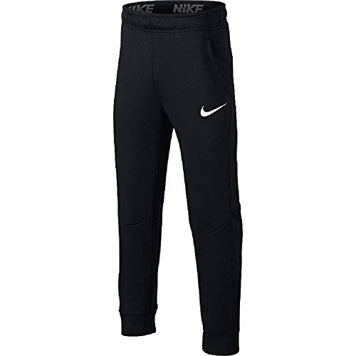 Nike Jungen Dry Taper Fleece Trainingshose, Black/White, XS