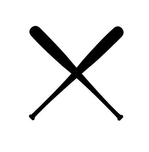 Baseball Bats Vinyl Decal Window Sticker Car Wall Sports Team Game Double Art, Die Cut Vinyl Decal for Windows, Cars, Trucks, Tool Boxes, laptops, MacBook - virtually Any Hard, Smooth Surface -