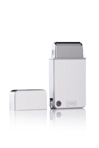 Trebs Akku-Rasierer mit ausklappbarem USB-Stecker und ultradünnem Scherkopf in hochwertiger Geschenkverpackung - ideal für unterwegs