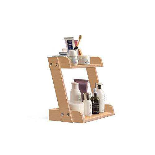 DENGDAI Rack de Rangement cosmétique en Bois Double-Decker Convient pour Cuisine Salle de Bain Taille: 29 * 16 * 31,5 CM