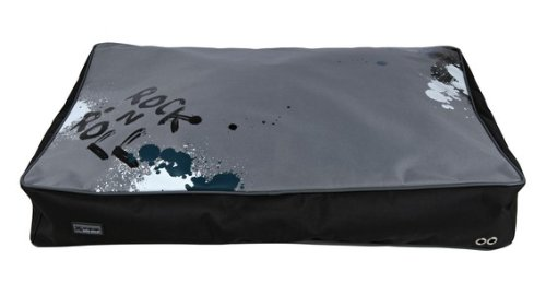 Coussin X-TRM, 80 × 55 cm, noir/gris Chien