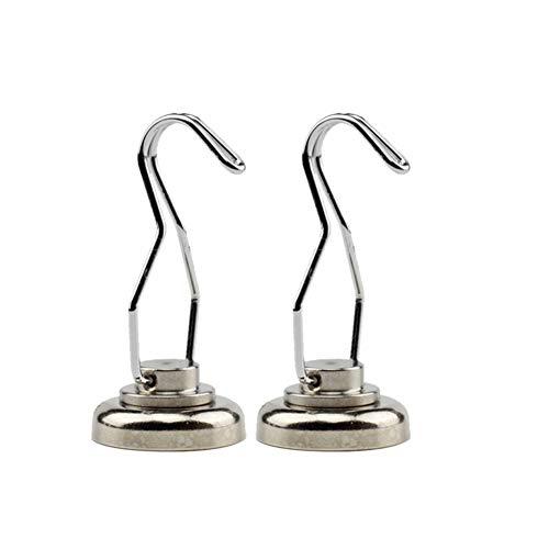LFIWN Kleiderbügel magnetisch 360 Grad drehbar Magnete robust Schlüsselanhänger Kühlschrank Kleiderbügel für Zuhause Küche Arbeitsplatz