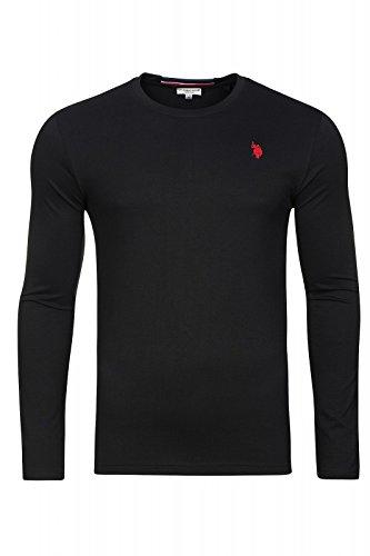 U.S. POLO ASSN. Shirt Sweatshirt Herren Langarmshirt Longsleeve Schwarz 168 42963 51884 199, Größenauswahl:M -