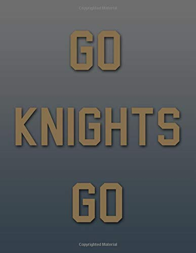 "Go Knights Go!: (8.5"" X 11"") Notebook Composition Book Journal Gift for Hockey Fans of Vegas Golden Knights (VGK) por Jessica Arden"