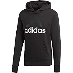 adidas Herren Hoodie Essentials Linear P/O French Terry, Black/White, L, S98772