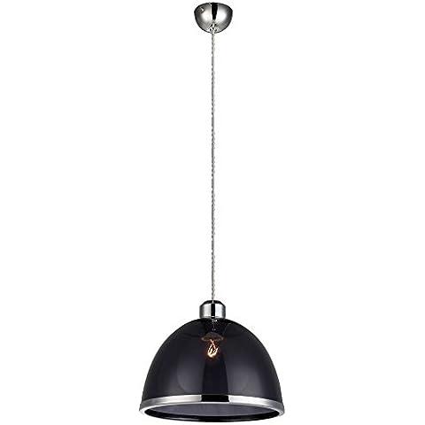 Retro a sospensione lampada da soffitto lampada KÓ¼Chen tavolo Illuminazione Globo nero 15181 - Accenti Fumo
