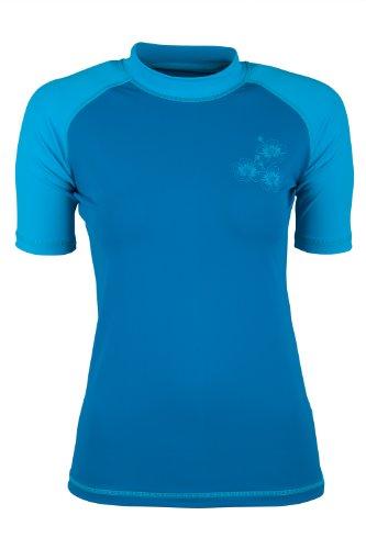 Mountain Warehouse Damen Rash Guard Kurzarm UV Schutz bequem Shirt Sport Urlaub Surf Wassersport