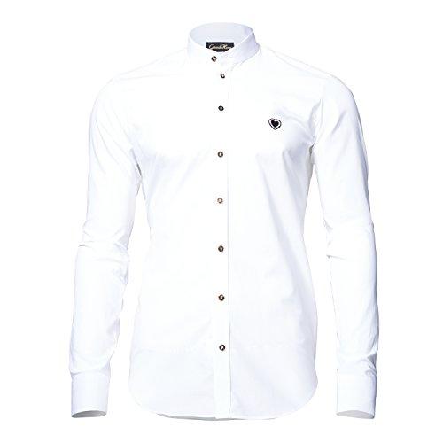 GaudiHerz - Trachtenhemd in weiß (M)