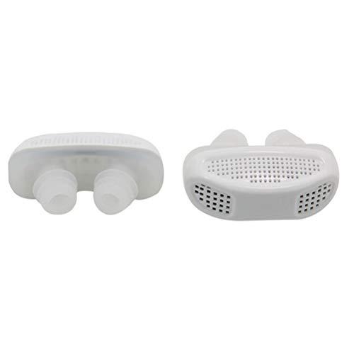 GFYWZ Paquet de 5 dispositifs Anti-ronflement, Filtre Nasal Anti-ronflement pour Un soulagement Naturel du ronflement et améliorer la Respiration, Purification de l'air,White