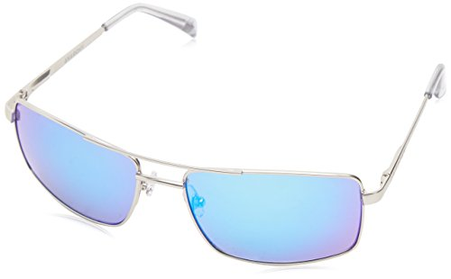 Anarchy Men's Darkside Square Sunglasses,Silver,61 mm