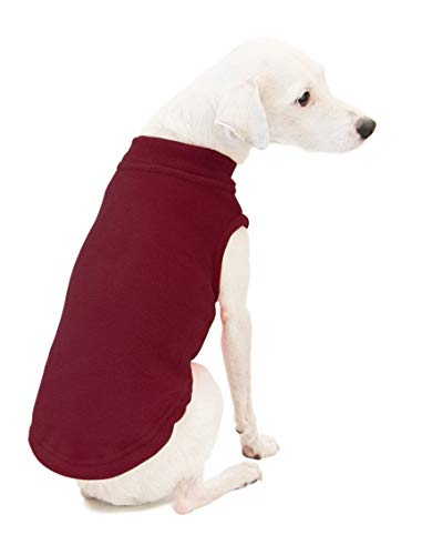 Gooby - Stretch Fleece Vest, Pullover Fleece Vest Jacket Sweater for Dogs, Burgundy, Large -