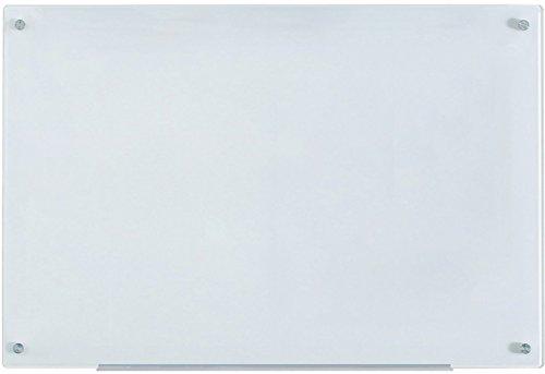 Weiß Glas-Magnettafel leicht abwischbar - 60 cm x 90 cm - 23 5/8