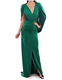 Kevan Jon Clo Cape Ball Dress in Ombre Jersey Green