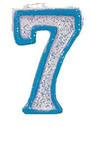 Paillettes bleu Bougie numéro 7