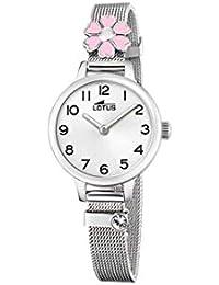 Lotus - Reloj para Niña Acero Flor Rosa Cierre de Hebilla 18661 2 e78e21c621f