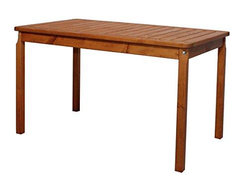 floristikvergleich.de Ambientehome 90472 Gartentisch Tisch Massivholz Esstisch EVJE ca. 120 x 70 cm