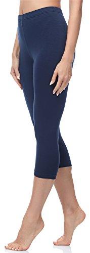 Merry Style Damen Leggings 3/4 MS10-144 (Dunkelblau, S (Herstellergröße: 36))