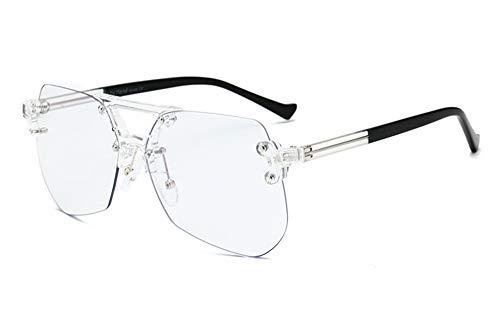 Huateng HT Anti-Blu-ray Brille rahmenlosen flachen Spiegel für Männer und Frauen Brillengestell kann mit Kurzsichtigkeit ausgestattet werden