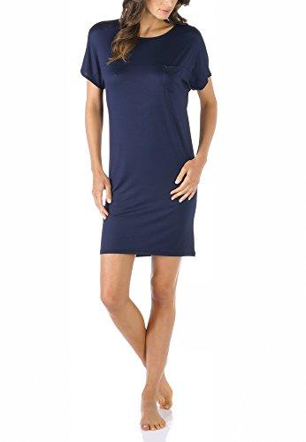 Mey Night Selina Damen Nachthemden Blau 40