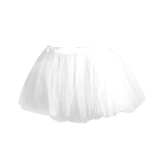FACILLA® Kids Girls Child White Ballet Dance Elastic Tulle Tutu [Apparel]