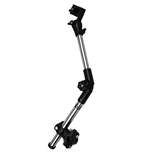 Sostenedor del paraguas - SODIAL(R)2-Secciones Estante Soporte Sostenedor de conector de paraguas de Bicicleta Silla Conchecillo de nino Silla de ruedas (Max 45 cm longitud)