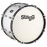 Stagg 21478 Marsch Lindenholz Bass-Trommel (Größe: 30,5x66 cm (12x26 Zoll), 8x Schrauben, 1,5 mm Stahl, 7x Lagen