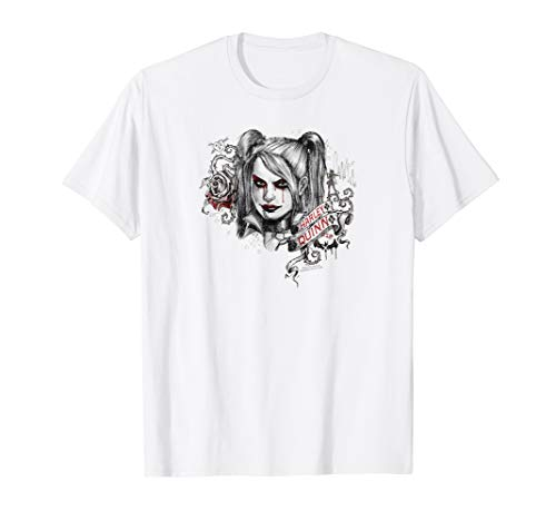 Batman: Arkham Knight Harley Quinn Sketchy Girl T Shirt (Scarecrow In Arkham Knight)