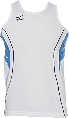 Mizuno Team Mens Running Singlet - White