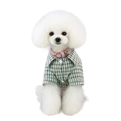 Plaid Baumwolle Kostüm - Quaan Neue Hund Kleidung Welpen Katze Plaid Overall Warme Baumwolle Pyjamas Kostüm
