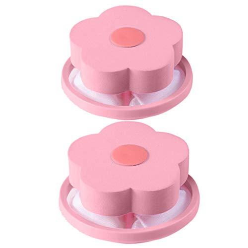 LSCOFFEE Filter, zum Entfernen von Haaren, schwimmend, 2 Stück, Rose, 2pcs