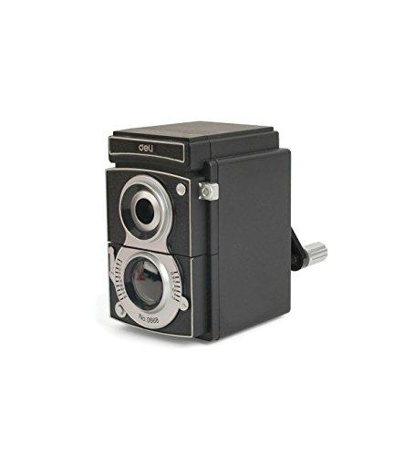 Temperamatite a manovella a forma di macchina fotografica reflex