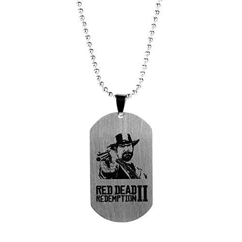 Preisvergleich Produktbild Schlüsselanhänger, Red Dead Redemption 2, Legierungssymbol Schlüsselanhänger, Paar Schlüsselbund Schlüsselbund Geschenk