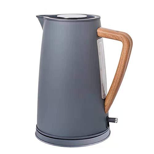 1800W Edelstahl Wasserkocher Mit Holzgriff 1.7L # 304 Food Grade SS Heizung Wasser In 5 Minuten