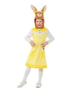 Smiffys 48733S Disfraz de Peter Rabbit con licencia oficial, coleta de algodón, para niñas