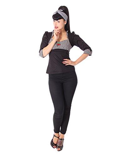 SugarShock Madita Rockabilly 50er Pin Up retro Gingham Karo Bluse -