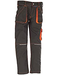 6112 Planam Junior Bundhose oliv/orange