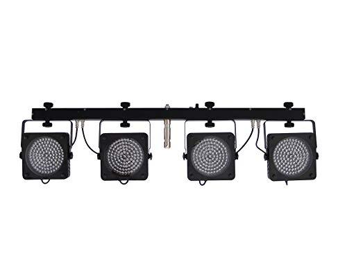 Eurolite LED KLS-200 Kompakt-Lichtset   Bar mit 4 Spots mit je 108 LEDs (RGB), inklusive Transporttasche   Komplette Lichtanlage mit vier superflachen LED-Spots