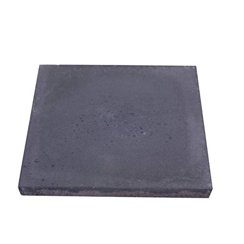 BodenMax 8er-Set Zementfliesen - Zementplatten für Fliesen, Boden und Wand - Schwarzgrau 20x20cm