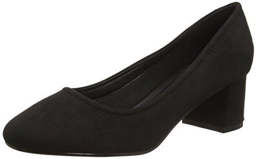 e566af8536 Boohoo Women's Victoria High Vamp Block Heel Ballet Closed-Toe Pumps, Black  (Black), 4 UK 37 EU