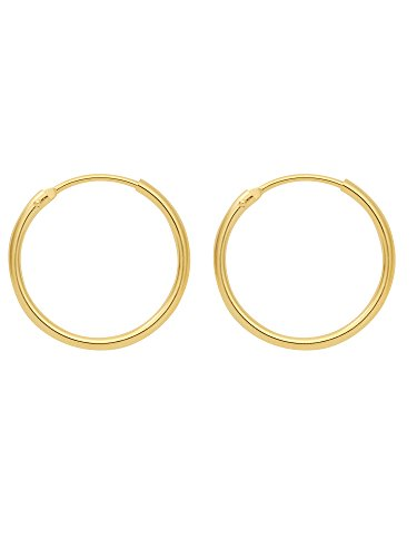 Gold Ohrringe 14 k 585 Gelbgold Ø 2 cm