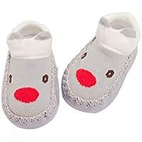 BESTOYARD Bebé calcetines algodón invierno calcetines animal antideslizantes para niños niña 13cm (Elk)