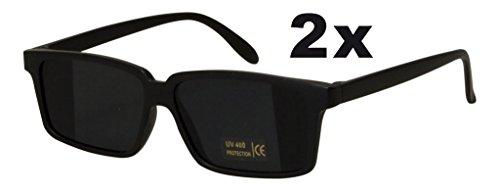 Trendyshop365 2X Ultracoole Agentenbrille mit Rückspiegel Detektivbrille Sonnenbrille mit UV-Schutz Doppelpack