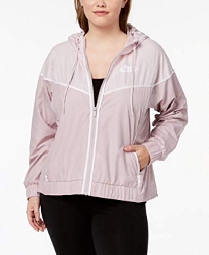 Nike Damen Plus Windrunner Fitness Workout Sportjacke - rosa - 1X - Jacket Track Frauen Nike