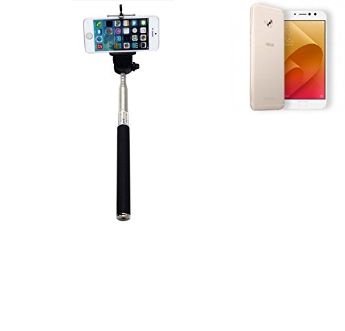 PerAsus ZenFone 4 Selfie Pro Bastone Selfie Selfiestick Asta Autoritratto telescopica Fotografico Monopiede Selfie Stick perAsus ZenFone 4 Selfie Pro nero - K-S-Trade(R)