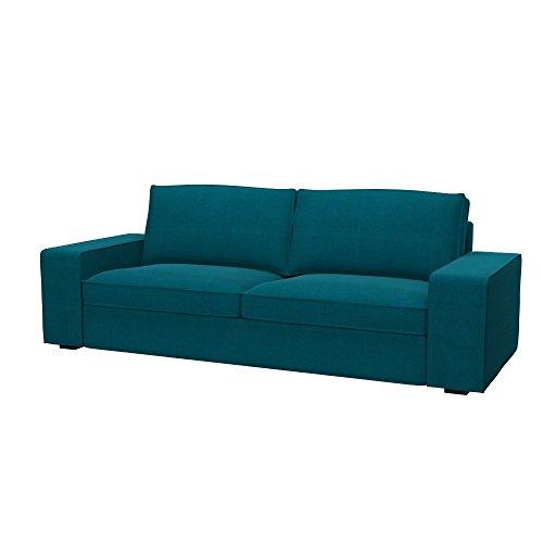 Soferia - IKEA KIVIK Funda para sofá de 3 Plazas, Elegance Turquoise