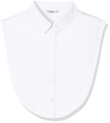 ONLY NOS Damen Top onlSHELLY Weaved Collar Acc NOOS, Weiß (Bright White), One Size